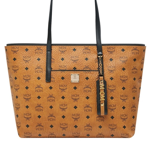 541a135fb MCM Bags | Anya Medium Shopper Tote Bag Cognac | Poshmark